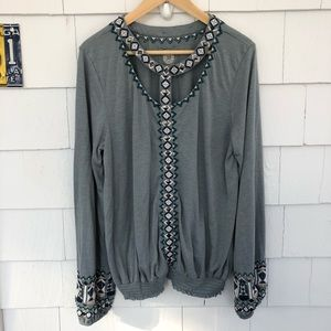Double D Ranch Embellished Top Elastic Waist